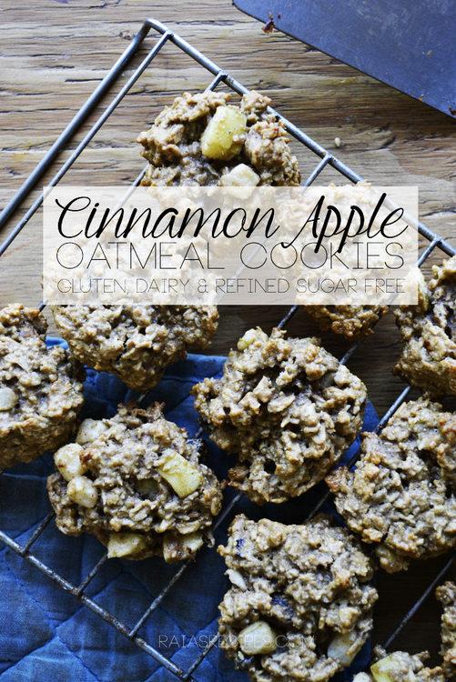 Gluten-Free Cinnamon Apple Oatmeal Cookies
