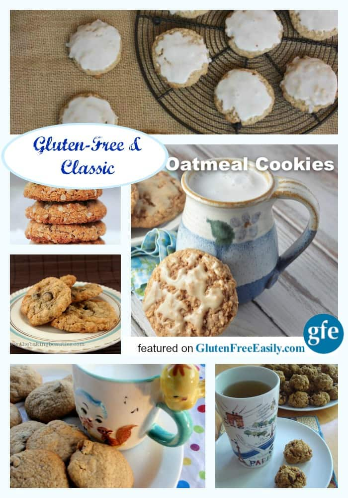 Gluten-Free Oatmeal Cookie Recipes. Everyone needs a reserve supply of good gluten-free oatmeal cookie recipes because sometimes you just need an oatmeal cookie! They are the best comfort food treats and there are over 60 recipes here for you. [on GlutenFreeEasily.com]