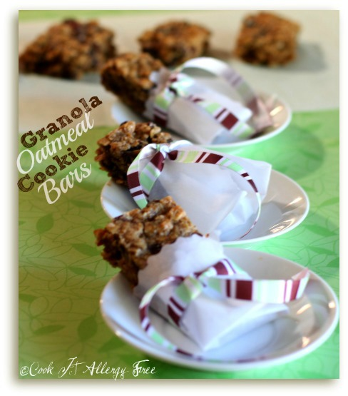 Gluten-Free Granola Oatmeal Cookies Bars