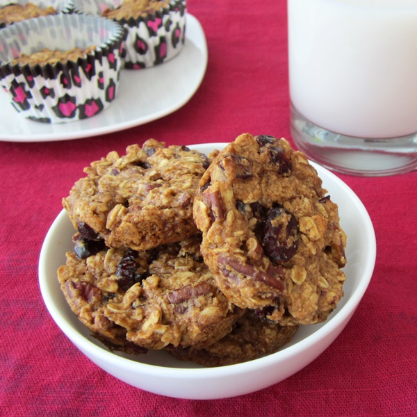 Gluten-Free Healthy Oatmeal Cranberry Breakfast Cookies Muffins