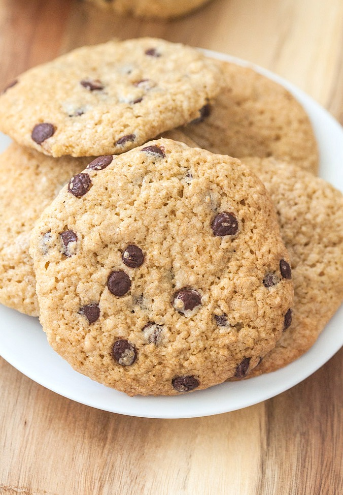 Gluten-Free Healthy Oatmeal Chocolate Chip Breakfast Cookies