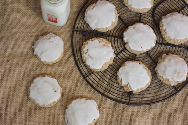 Gluten-Free Iced Oatmeal Cookies