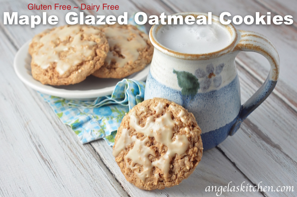 Gluten-Free Maple Glazed Oatmeal Cookies