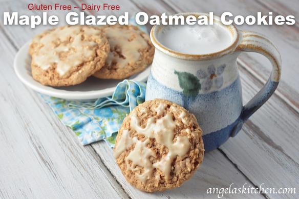 Gluten-Free Maple Glazed Oatmeal Cookies