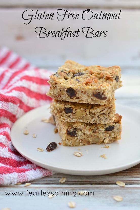Gluten-Free Oatmeal Breakfast Bars