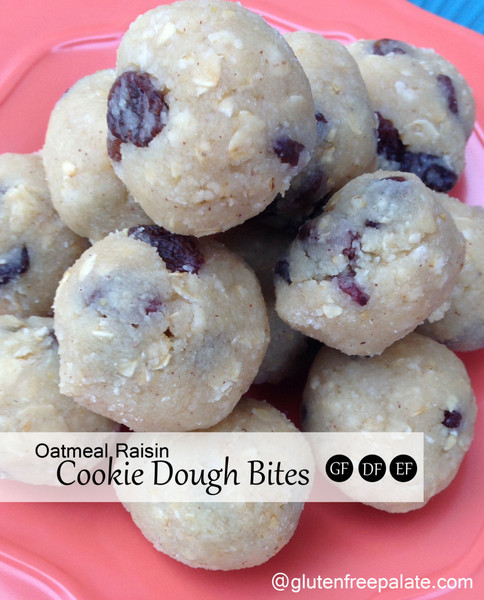 Gluten-Free Oatmeal Raisin Cookie Dough Bites