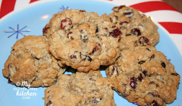 Gluten-Free Swirled Chocolate Chip Cranberry Oatmeal Cookies