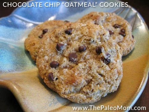 Grain-Free Chocolate Chip Oatmeal Cookies