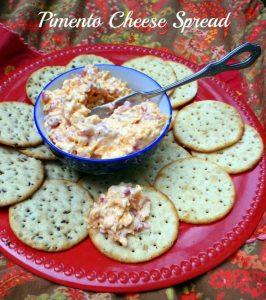 Pimento Cheese Spread is a delicious Southern classic that's naturally gluten free. It makes a lovely presentation when served on gluten-free crackers, toast points, or bagels, or with celery sticks. I've also eaten it on potato chips!