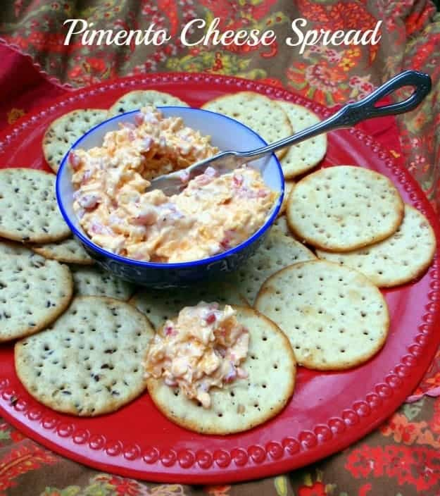 Pimento Cheese Spread is a delicious Southern classic that's naturally gluten free. It makes a lovely presentation when served on gluten-free crackers, toast points, or bagels, or with celery sticks. I've also eaten it on potato chips! [featured on GlutenFreeEasily.com]