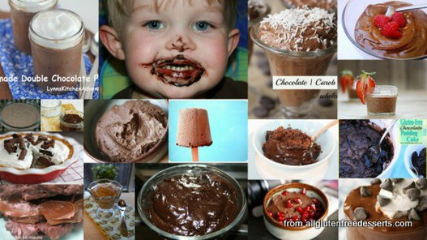 Chocolate pudding desserts are classic desserts that made us happy as a child and still makes us happy! Gluten-free pudding recipes plus variations like pudding pops and pudding sandwiches. [featured on GlutenFreeEasily.com] (photo)