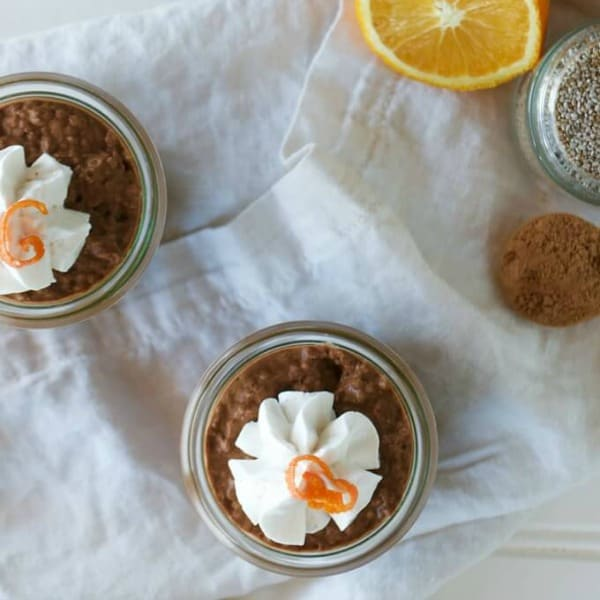 Gluten-Free Chocolate Orange Chia Pudding. This healthy chocolate orange chia pudding recipe is perfect for breakfast, dessert, or an easy snack.