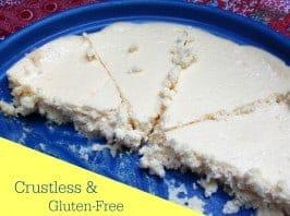 Gluten-Free Crustless Lemon Cheesecake Pie [found on GlutenFreeEasily.com]