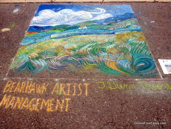 Street Art Rendition of Van Gogh's Wheatfields Via Colori Fredericksburg