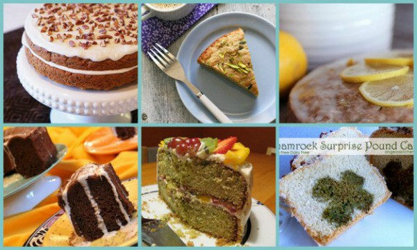 With few exceptions (clearly shown), folks won't know that these cakes contain zucchini, but they will love these moist and delicious cakes! Gluten-Free Zucchini Cake Recipes [featured on GlutenFreeEasily.com] (photo)