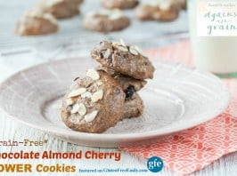 Grain-Free Chocolate Almond Cherry Power Cookie (Gluten Free, Paleo, Vegan) from Against All Grain [featured on GlutenFreeEasily.com]