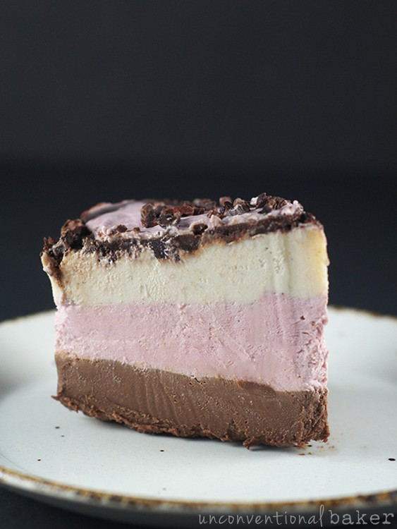 Neopolitan Cake (Raw Vegan Paleo) from Unconventional Baker [featured on GlutenFreeEasily.com]