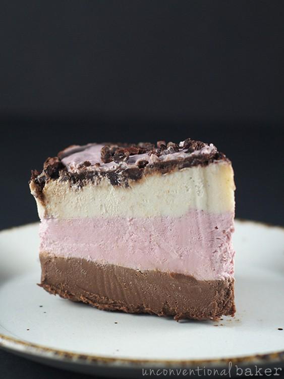 Neopolitan Cake (Raw Vegan Paleo) from Unconventional Baker [featured on GlutenFreeEasily.com]