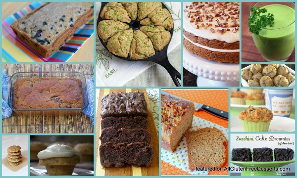 Sampling of Recipes in This Gluten-Free Zucchini Dessert Recipes Roundup [featured on GlutenFreeEasily.com] (photo)