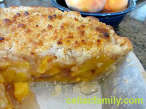 Easy Peach Crumb Pie (Gluten Free)