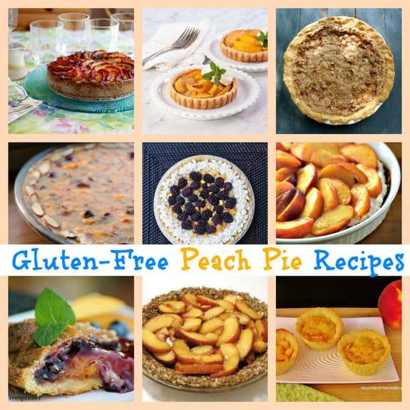 Gluten-free peach pies! Few summertime treats are better than fresh peaches right off the tree. But they're pretty awesome in gluten-free peach pies, too! Lots of fabulous options here. [featured on GlutenFreeEasily.com]