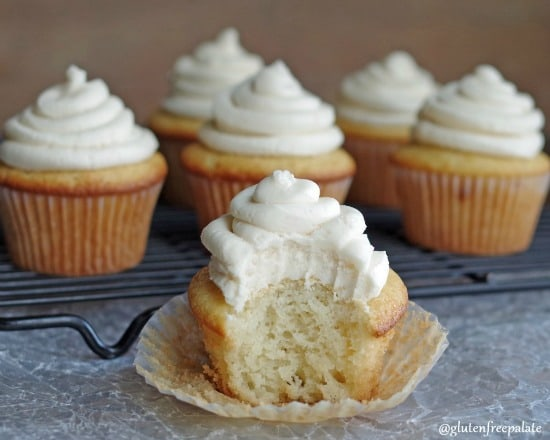 Root Beer Cupcakes with Root Beer Buttercream Frosting from Gluten-Free Palate