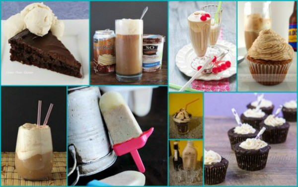 Root beer floats and root beer float desserts. It's always a good time for a root beer float in my opinion! [featured on GlutenFreeEasily.com] (photo)