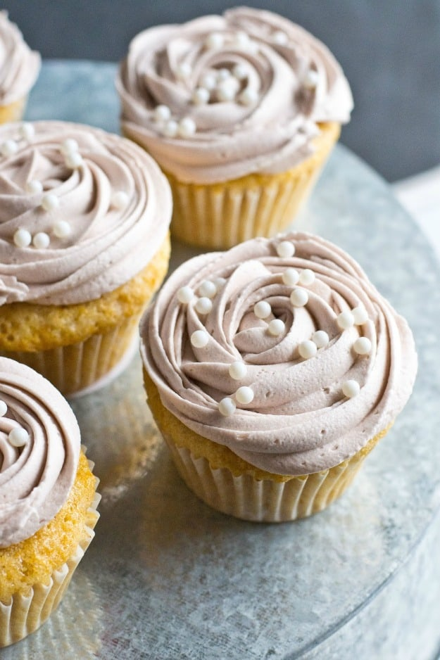 Gluten-Free Root Beer Float Cupcakes. These gluten-free, dairy-free cupcakes are one of many gluten-free root beer recipes on gfe. [featured on GlutenFreeEasily.com]