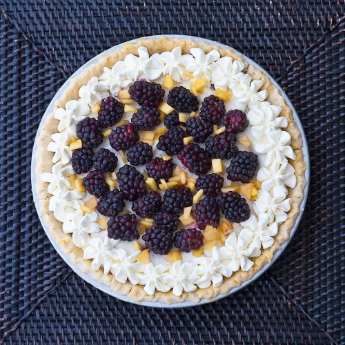 Marshmallow Peach Berry Pie (Gluten Free)