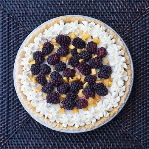 Marshmallow Peach Berry Pie (Gluten Free)