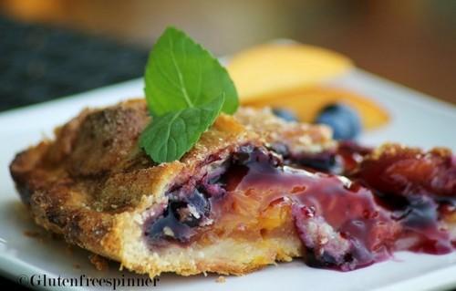 Peach Berry Pie with Lattice Crust (Gluten Free)
