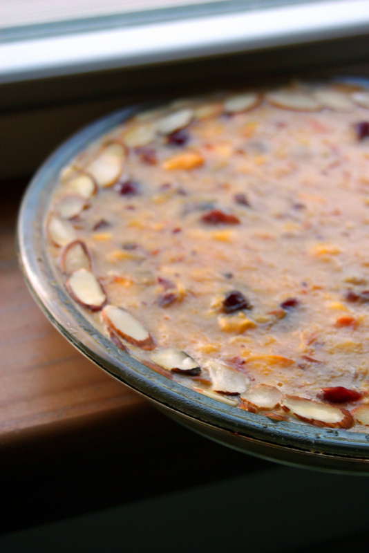 Peach Cranberry Pie (Gluten Free, Vegetarian)