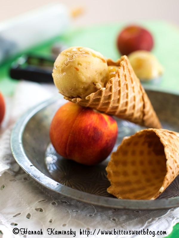 Peach Pie Ice Cream (Gluten Free, Dairy Free, Vegan)
