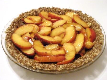 Raw Peach Pie (Gluten Free)