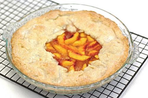 Rustic Peach Pie (Gluten Free, Vegan)