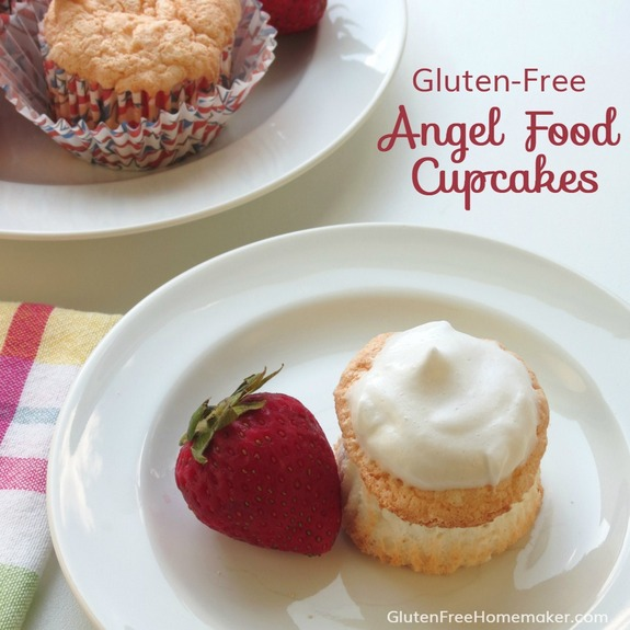Delectable Angel Food Cupcakes (Gluten Free, Dairy Free) [featured on GlutenFreeEasily.com] (photo)