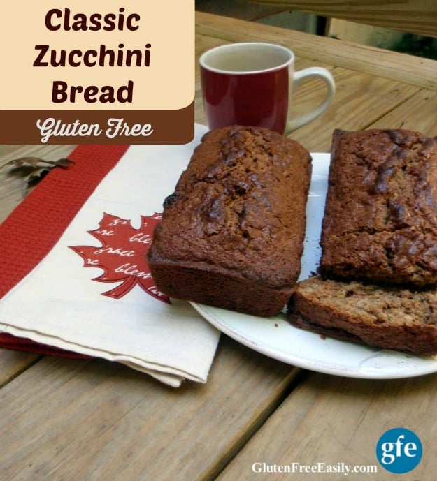 Classic Gluten-Free Zucchini Bread. Classic Gluten-Free Zucchini Bread. A classic cinnamon-y gluten-free quick bread that makes fine use of summer's favorite green squash. [from GlutenFreeEasily.com]