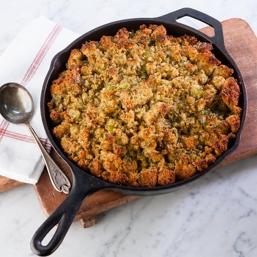 Gluten-Free Cornbread Challah Stuffing