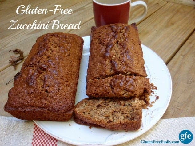 Gluten-Free Classic Zucchini Bread from Gluten Free Easily. One of many fabulous Gluten-Free Mother's Day Brunch Recipes!