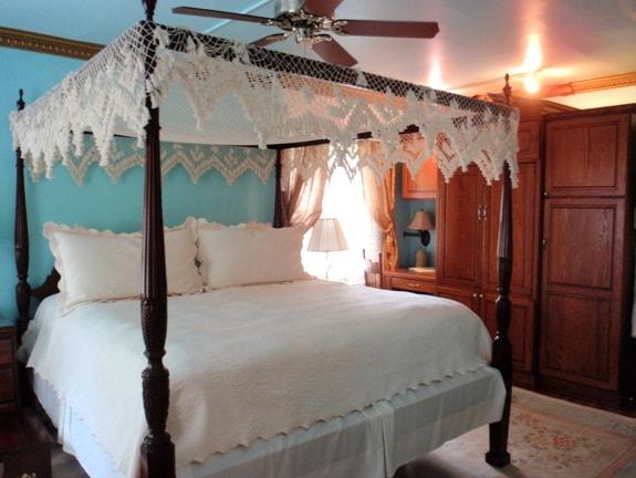 Our Bed in Dublynn Room Haddonfield Inn