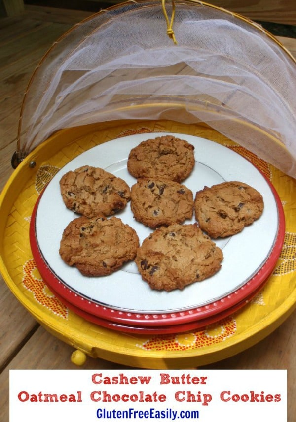 Gluten-Free Cashew Butter Oatmeal Chocolate Chip Cookies Recipe ...