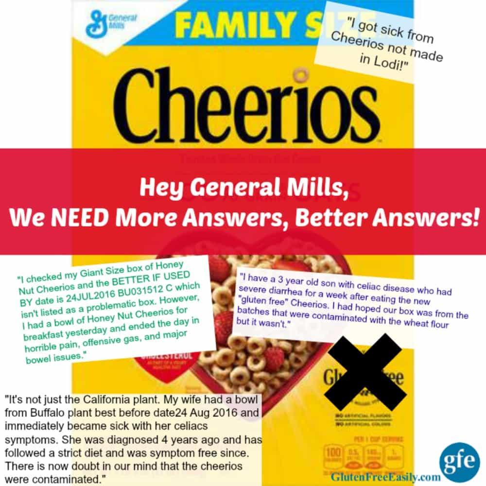 "General Mills We Need More Answers on Your ""Gluten-Free"" Cheerios #notglutenfreeCheerios"