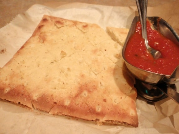 Garlic Bread Pasta Pomodoro