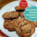 Cashew Butter Oatmeal Chocolate Chip Cookies