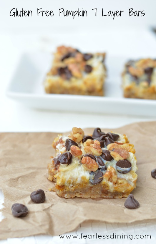 Gluten-Free Pumpkin Seven 7-Layer Magic Cookie Bars