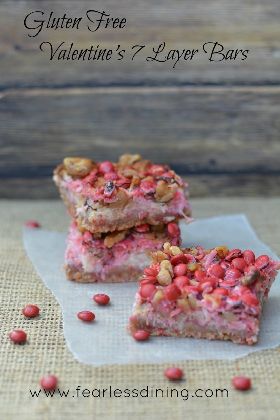 Gluten-Free Valentine's 7-Layer Magic Cookie Bars