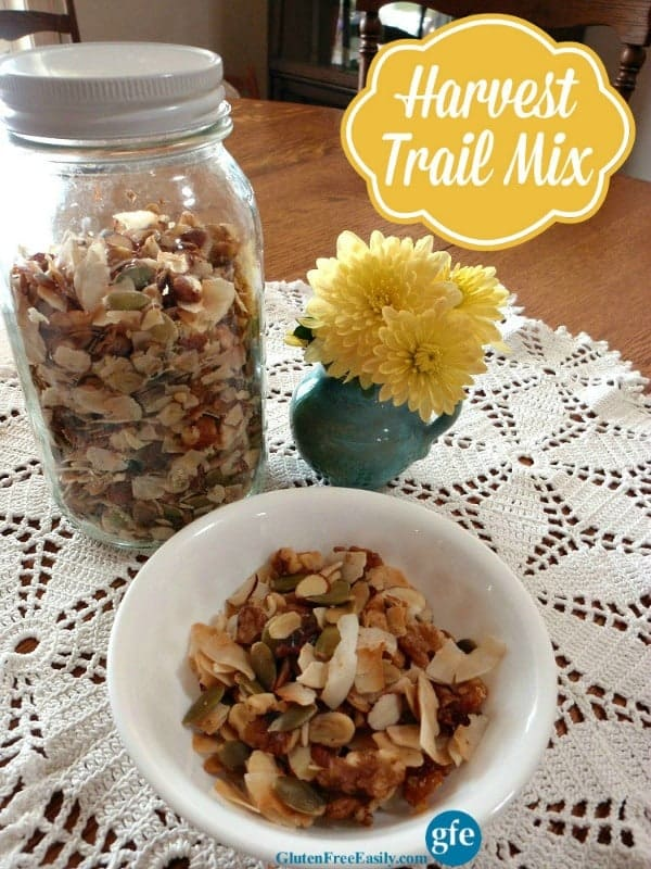 This Harvest Trail Mix can be eaten for breakfast, a snack at home, road trip food ... in fact, it's perfect any time you need a protein-rich, tasty treat!