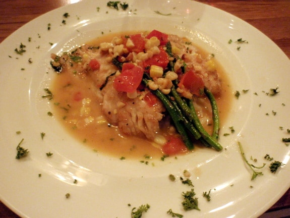 Pan-Seared Sea Bass Da Soli Restaurant