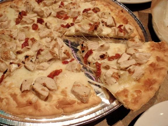 White Barbecue Chicken Pizza Pasta Pomodoro