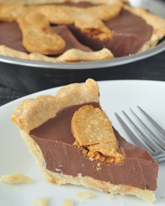 Easy Gluten-Free Pie Crust Chocolate Peanut Butter Truffle Pie